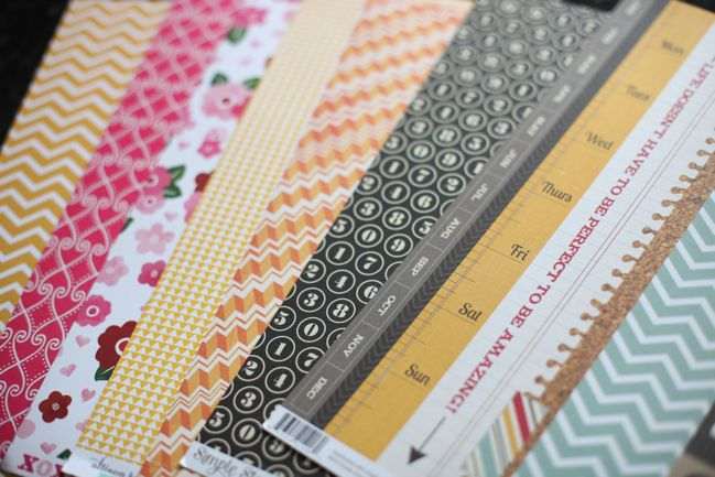 patterned paper b-sides
