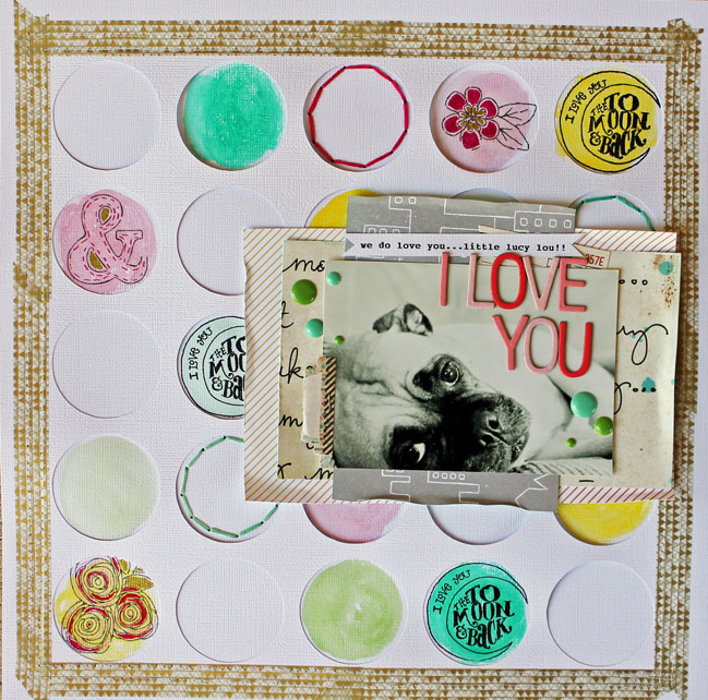 scrapbooking tutorial by Melissa Mann @ shimelle.com