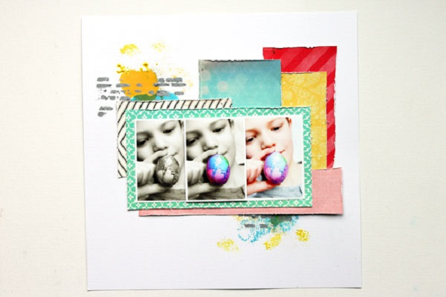 A scrapbook tutorial by Angie Gutshall @ shimelle.com