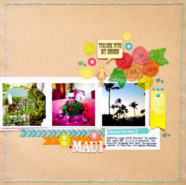 Sketch to Scrapbook Page by Amy Tan @ shimelle.com