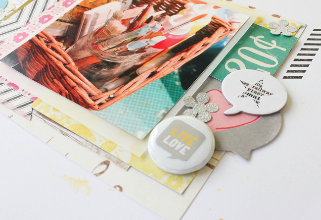 multi layered scrapbooking page by Janna Werner @ shimelle.com