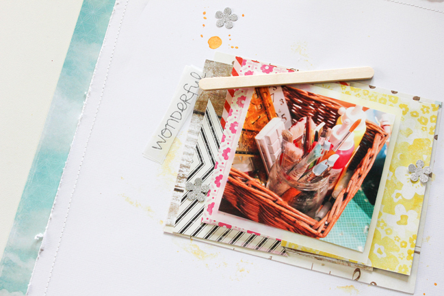 multi-layered scrapbook page by Janna Werner @ shimelle.com
