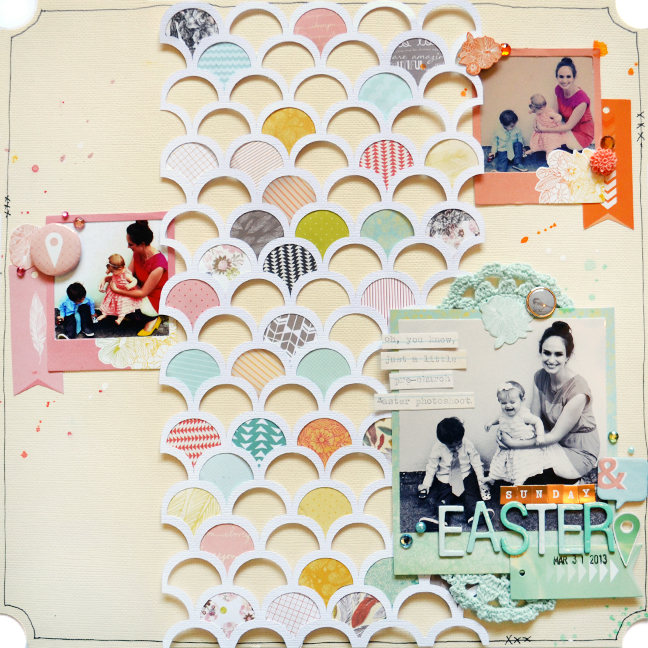 Scrapbooking with American Craft Papers by Paige Evans @ shimelle.com