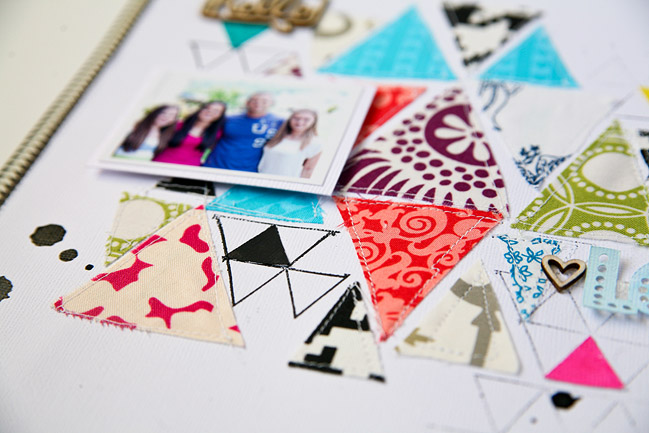 Scrapbooking with Fabric by Jen Kinkade @ shimelle.com