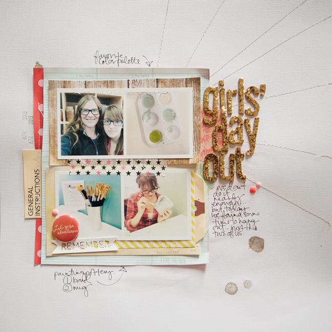 Sketch to Scrapbook Page by Marcy Penner @ shimelle.com