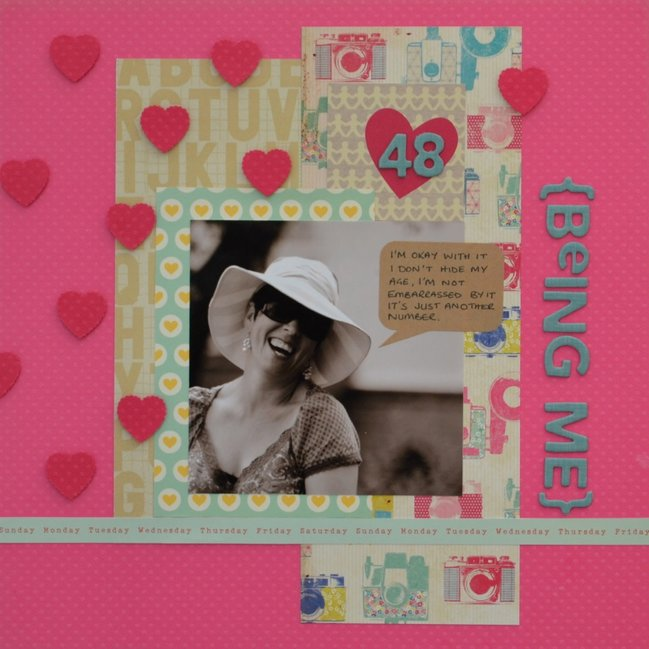 Using Pink Supplies by Louise Fortune @ shimelle.com