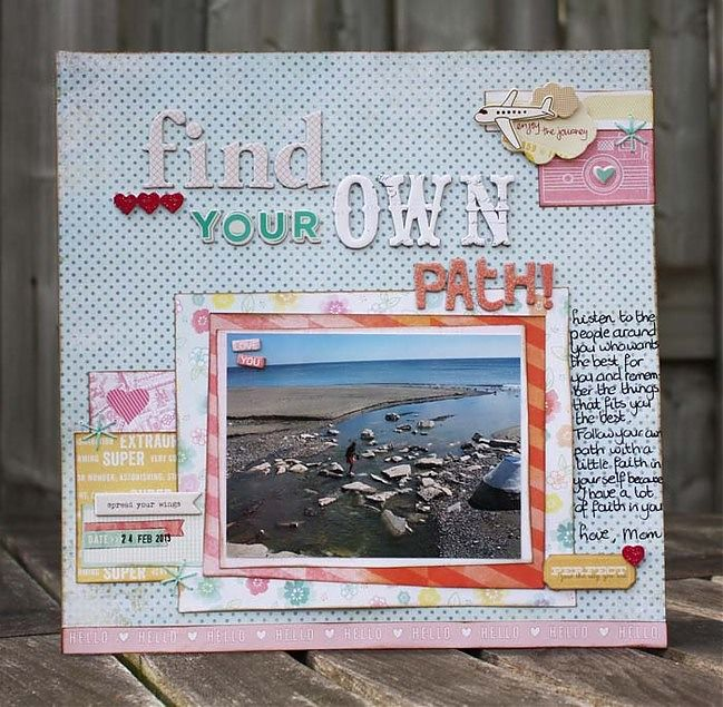 Getting more scrapbook page titles from your letter stickers by Diana @ shimelle.com