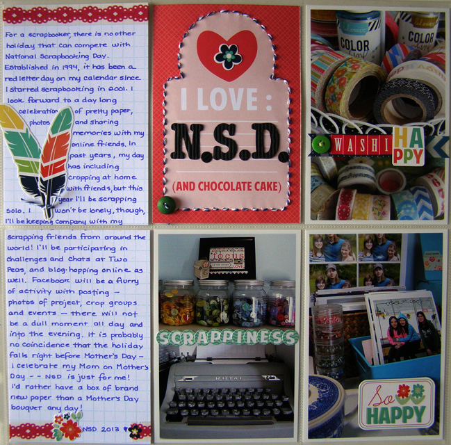 Ideas for scrapbooking with divided page protectors by Linda Auclair @ shimelle.com