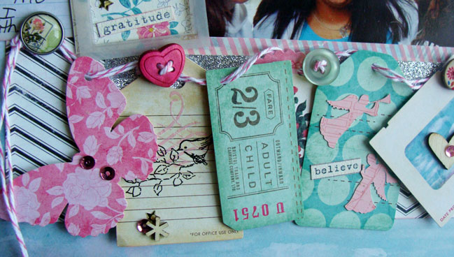 Ideas for recording gratitude in your scrapbooks by Marianne Barone @ shimelle.com