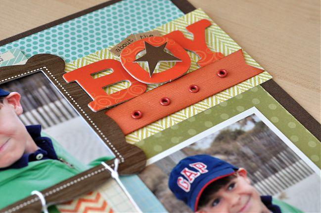 scrapbook page by jennifer gallacher @ shimelle.com