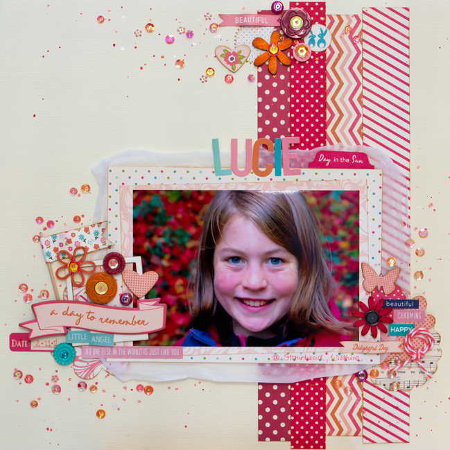 Five Ways to use sequins on your layouts by Daphne Wunn-Rihm @ shimelle.com