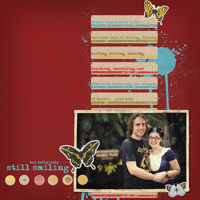 digital scrapbook page