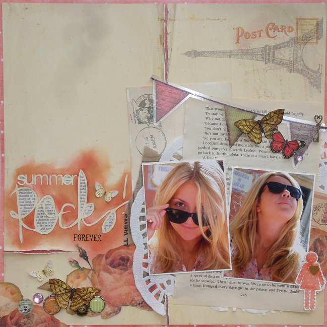 scrapbook page by Sam Ball @ shimelle.com
