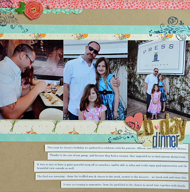 May Flaum shares her creative process for scrapbooking @ shimelle.com