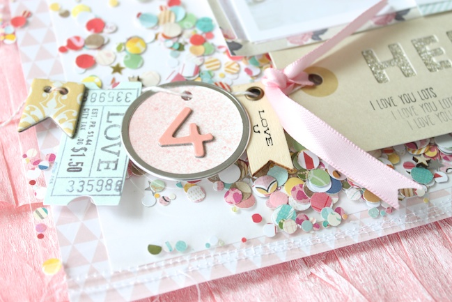 Confetti Pockets: A Scrapbook Tutorial by Stephanie Bryan @ shimelle.com