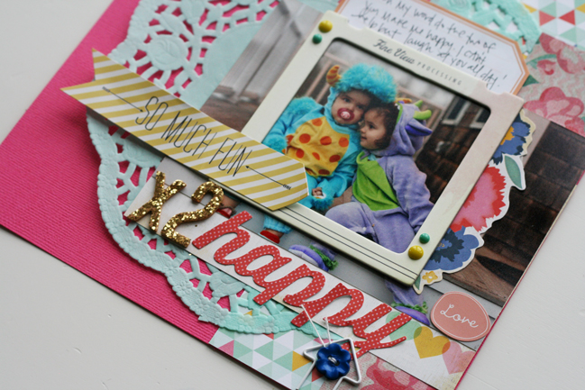 scrapbook page by Stephanie Howell @ shimelle.com