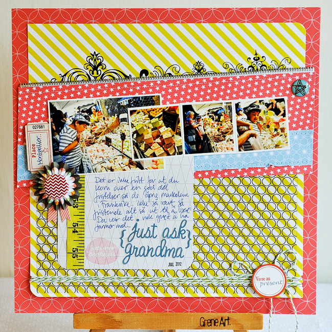 Sketch to Scrapbook Page:: Slanted Elements by Anne Jo Lexander @ shimelle.com