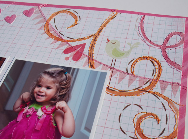 Five Fun Ways to Stitch on your Layout by Marie-Pierre Capistran @ shimelle.com