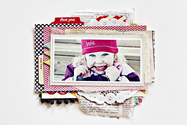 Mixed Media Light:: A Scrapbook Tutorial by Christin Gronnslett @ shimelle.com