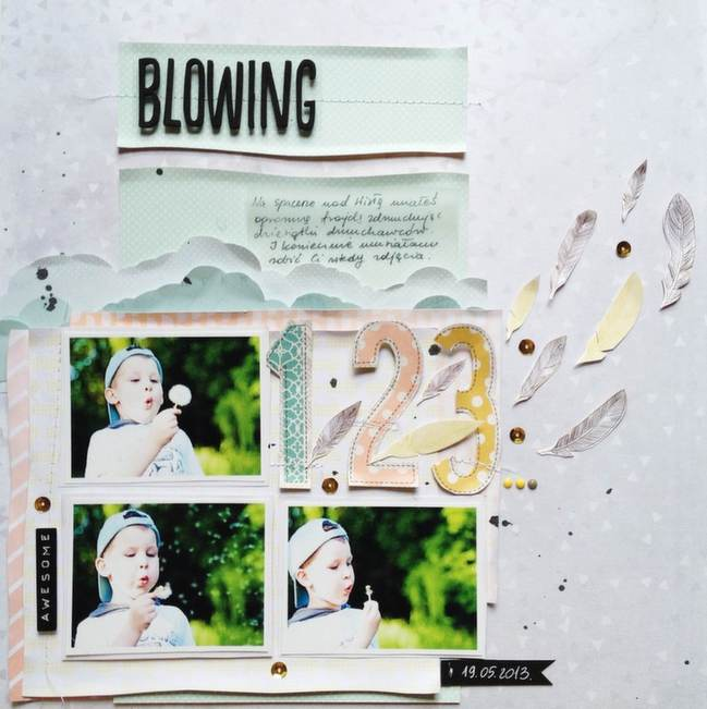Sketch to Scrapbook Page:: by Monika Glod @ shimelle.com