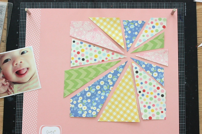 The Patterned Paper Effect:: A Scrapbooking Tutorial by Tomomi Hiarmaru @ shimelle.com