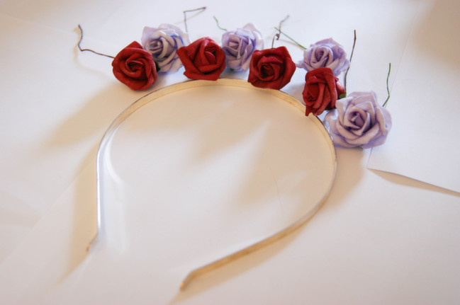 floral headband tutorial by Alice Partridge @ shimelle.com