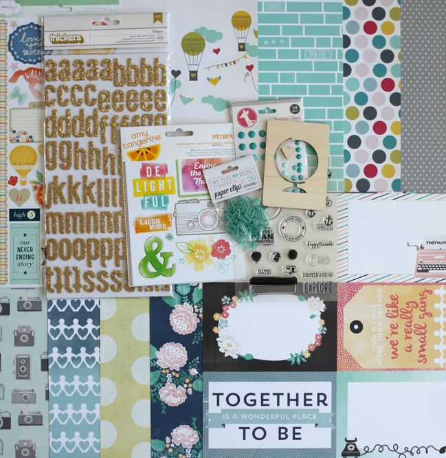 Best of Both Worlds scrapbooking kit :: August 2013