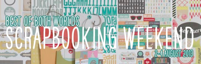 online scrapbooking weekend