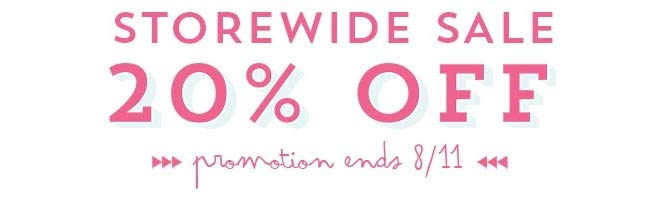 20% off storewide sale at Two Peas