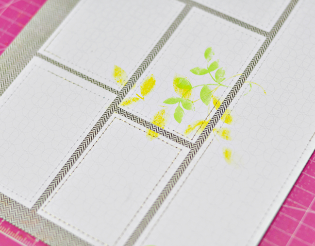 Subtle Stamping:: A Scrapbook Tutorial by Sasha Farina @ shimelle.com