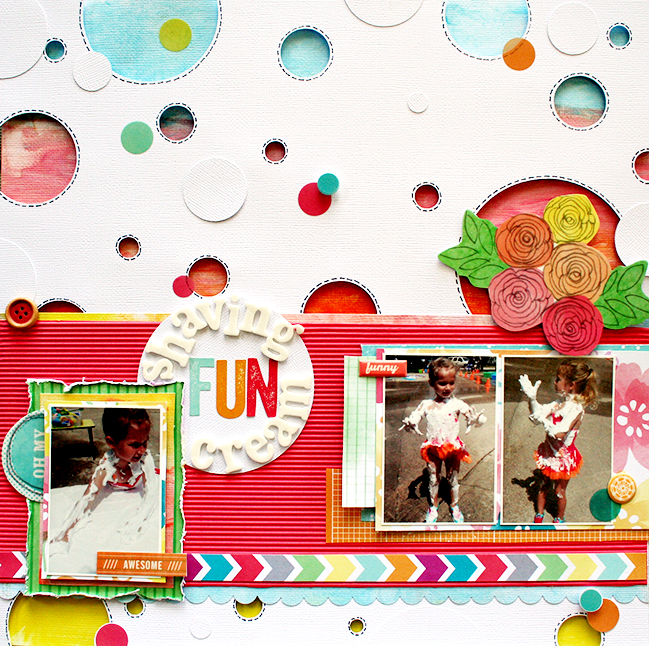Scrappy Shaving:: A Scrapbook Tutorial by Heather Leopard @ shimelle.com