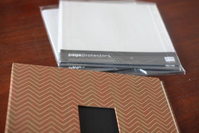 american crafts album + page protectors