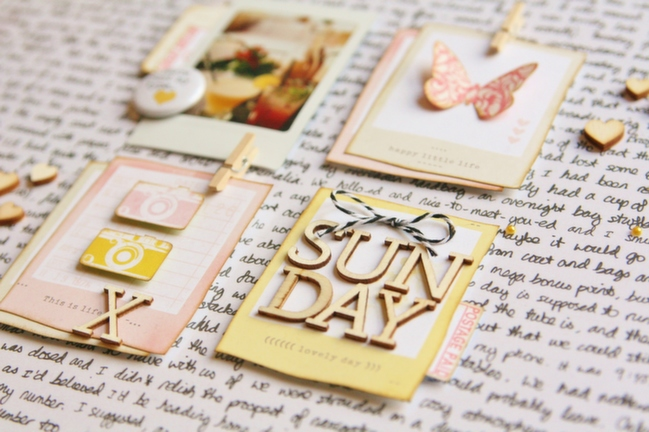 How to Hide a Story in Plain Sight:: A Scrapbook Tutorial by Kirsty Smith @ shimelle.com