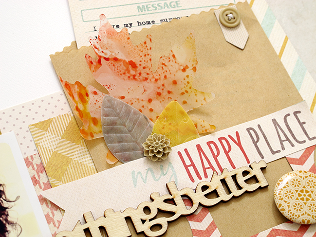 Marbled Fall Leaves Using Distress Stains:: A Scrapbook Tutorial by Kim Watson @ shimelle.com