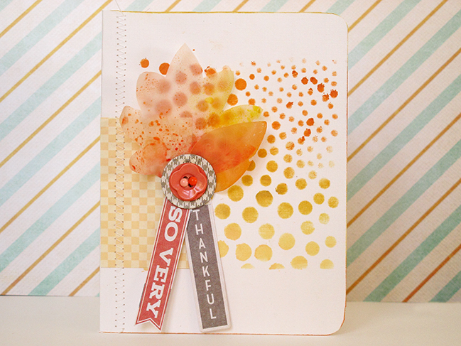Blended Chalk Inks to Create a Quick Ombre Effect @ shimelle.com