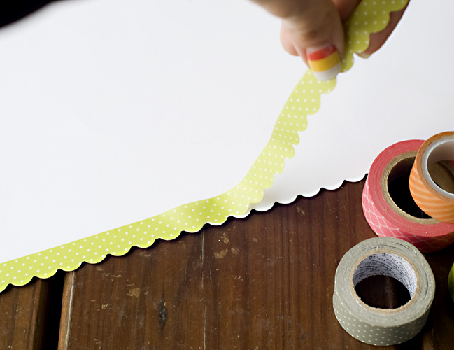 Border Punches with Decorative Tape:: A Scrapbook Tutorial by Tegan Skwiat @ shimelle.com