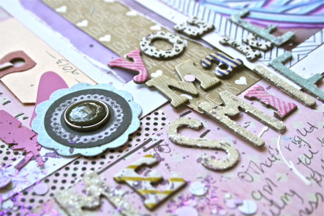 Five Ways to Scrap With the colour Purple by Ashli Oliver @ shimelle.com