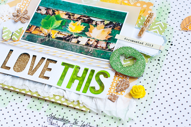 how to add more dimension to your scrapbooking pages by jessica lohof @ shimelle.com