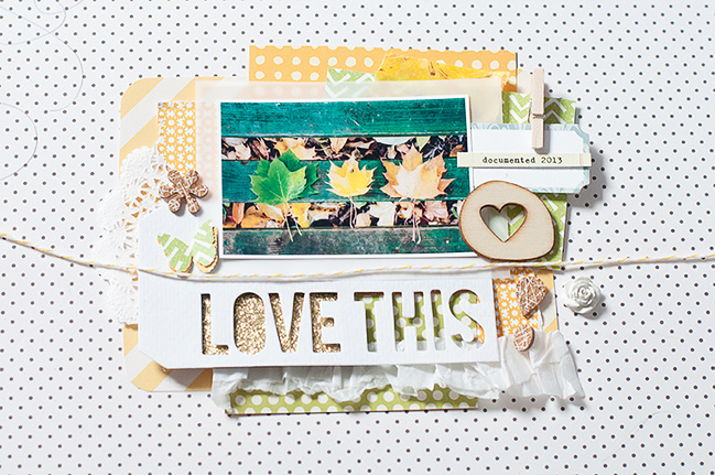 how to add more dimension to your scrapbook pages by Jessica Lohof @ shimelle.com