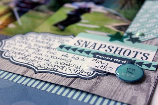 scrapbook page by Jen Naulls @ shimelle.com