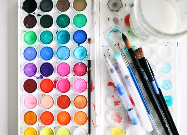 Simple Watercolor Ideas Simple watercolor palette.