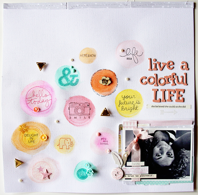 get started with gelatos:: a scrapbook tutorial by loredana bucaria @ shimelle.com