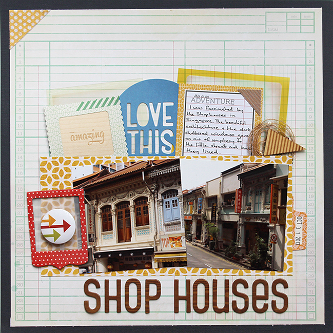 scrapbook page by Manda Moore @ shimelle.com
