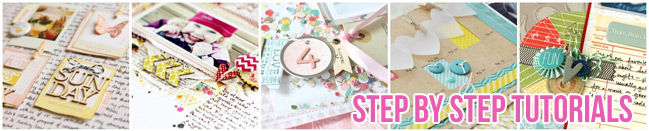 Step by Step Scrapbooking Tutorials :: A Collection of Articles from shimelle.com