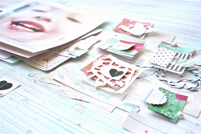 layering the leftover bits:: a scrapbook tutorial by ashli oliver @ shimelle.com