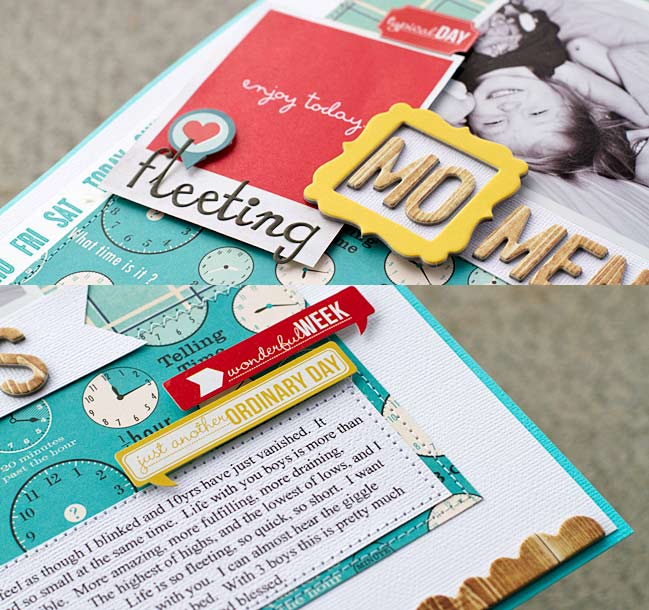 scrapbook page by laura craigie @ shimelle.com