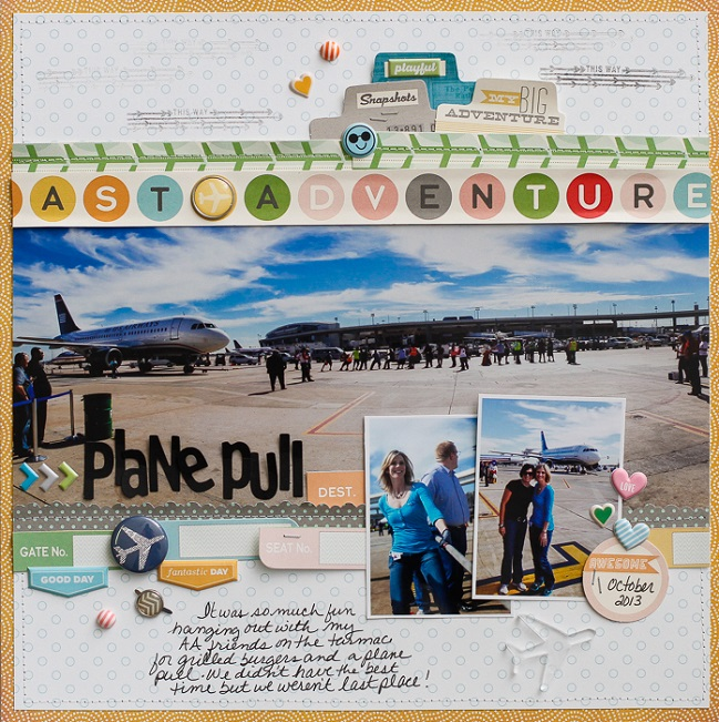 scrapbook page designs for larger photos by Diane Payne @ shimelle.com