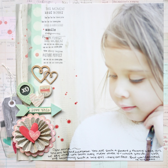 scrapbook page designs for larger photos by stephanie bryan @ shimelle.com
