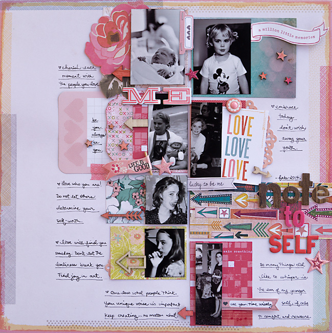 scrapbooking colour schemes with pink by melanie ritchie @ shimelle.com