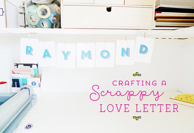 crafting a love letter from project life supplies:: a scrapbooking tutorial by maria lacuesta @ shimelle.com